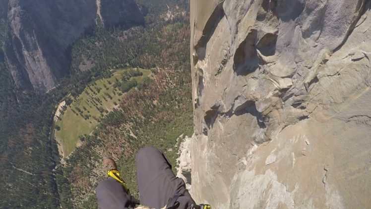 2,650′ rappel off El Capitan in 2016