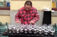 AMAZING Street Musician playing Water Glasses!