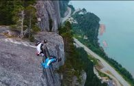 Climbing and Wingsuit Jumping off the Stawamus Chief in Squamish, B.C.