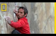 Very difficult wall climb in Yosemite Park