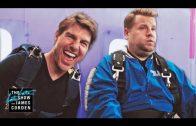 Tom Cruise & James Corden go skydiving!