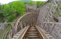 4K AWESOME Twister Roller Coaster Front Seat POV Knoebels Amusement Park