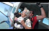 Skydiving on her 90th birthday!