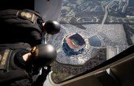 U.S. Navy Seals Skydive into stadium