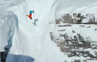 Jackson Hole Skiing, Corbet's Couloir Backflip, Cliff drops and Powder