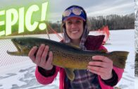 Ice fishing for Brown Trout! || Women's Fishing Network S1E13